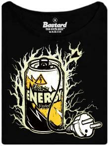 Electric enegy drink - černé dámské tričko s potiskem
