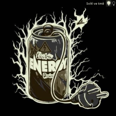 Energy drink - tričko s fosforeskujícím potiskem, který svítí ve tmě