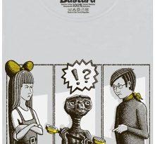 E.T. mimozemšťan, Mach a Šebestová a utržené sluchátko - šedé dámské tričko