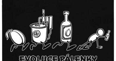 Evoluce pálenky - černé pánské tričko