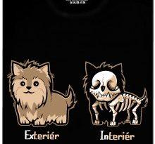 Exteriér. Interiér - černé pánské tričko