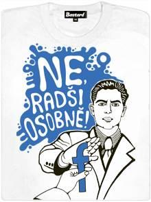 Ne, radši osobně! - bílé dámské tričko