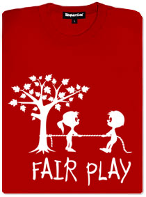 Fair play červené dámské tričko s potiskem
