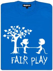 Fair play přetahovaná o strom