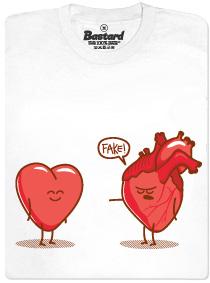 Falešné versus pravé srdce - pánské tričko