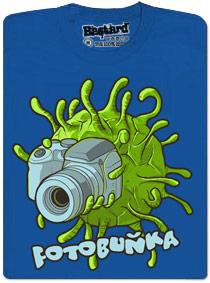 Buňka s foťákem - modré pánské tričko