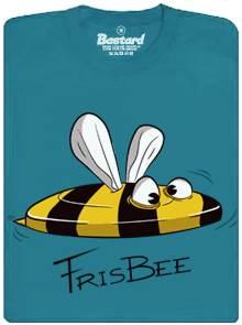 Frisbee včela - modré pánské tričko s potiskem