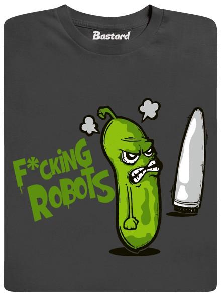 Šukající roboti - šedé pánské tričko