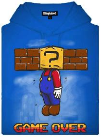 Gema over Mario - modrá pánská mikina