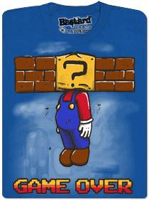 Game over - Mário - modré pánské tričko