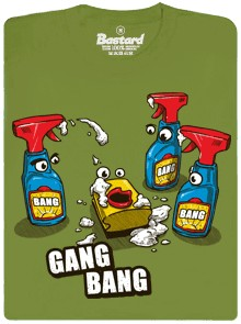 Cillit Gang Bang - zelené pánské tričko
