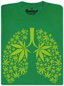 Ganja plíce z marihuany - pánské tričko s potiskem