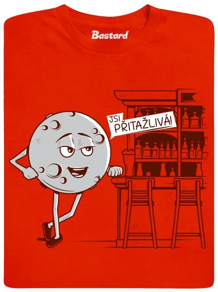 Jsi přitažlivá - Měsíc říká Zemi - oranžové pánské tričko