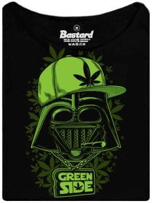 Darth Vader naa zelené straně s jointem - černé dánské tričko