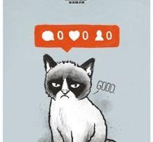 Grumpy cat - šedé pánské tričko