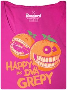 Grepy které se smějí - růžové dámské tričko