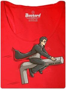 Létání na IMBUS 2000 - červené dámské tričko