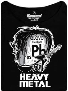 Heavy metal olovo - dámské tričko s potiskem