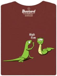 Had dá stěží ještěrce placáka, když nemá čím - hnědé dámské tričko