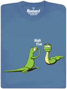 Dej mi High Five říká ještěrka hadovi - modré pánské tričko