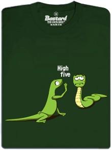 High Five - ještěrka a had - zelené pánské tričko