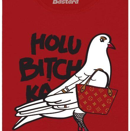 Holubitchka - dobře oblečená holubička - červené dámské tričko