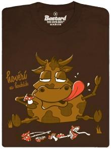 Hovězí na houbách - hnědé pánské tričko