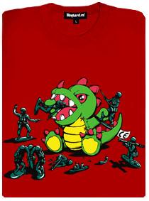 Hračky si hrají - dinosaurus vs. vojáčci