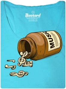 Music pills - modré tílko dámské tričko