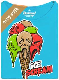 Vřískot zmrzlina - modré dámské tričko