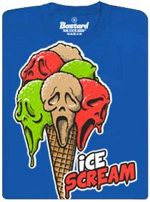 Ice scream - modré pánské tričko s potiskem