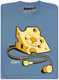 iDam sýrový hudební přehrávač děravej jak sýr - modré