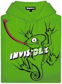 Zelená pánská mikina s potiskem Invisible chameleon