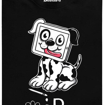 iPet - nejlepší přítel člověka a nástupce iPad - černé pánské tričko