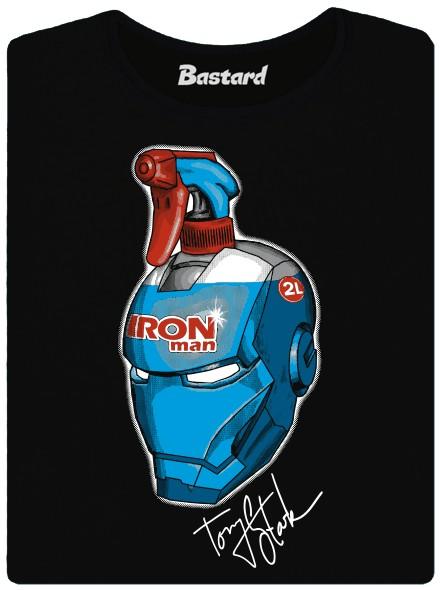 Iron man - přípravek na čištění oken - černé dámské tričko