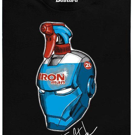 Iron man - čistič oken - černé pánské tričko