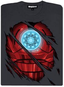 Svítící dámské tričko s motivem Iron man