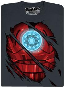 Iron man - fosforeskující pánské tričko