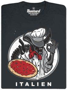 Italien - mimozemský šéfkuchař - černé pánské tričko
