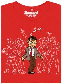 Mr. Bean na párty - červené dámské tričko