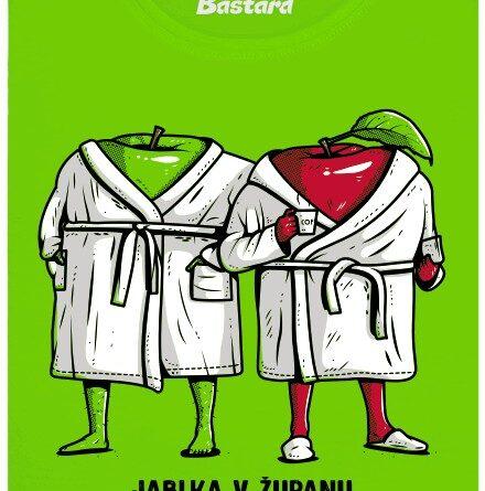 Jablka v županu - zelené dámské tričko