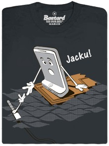 Jacku! iPhone 7 se loučí s konektorem - šedá pánské tričko