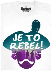 Je to rebel - bílé pánské tričko
