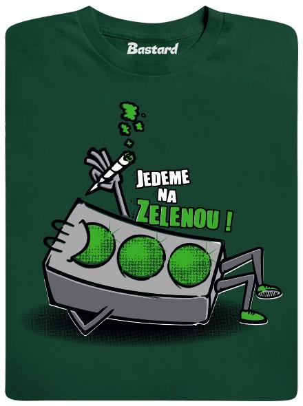 Jedeme na zelenou! - zelené pánské tričko