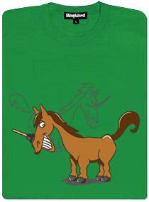 Jednorožec a zvon na prošťuchování odpadů - zelené dámské tričko