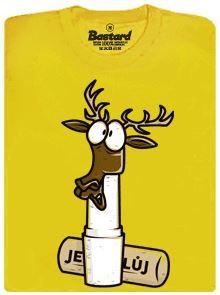 Jelení lůj - žluté pánské tričko s potiskem