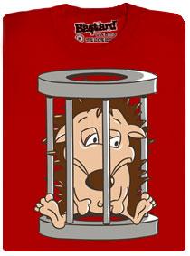 Ježek v kleci - červené pánské tričko