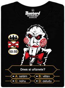 Dnes si uříznete: salám, větev, nohu nebo ostudu - černé pánské tričko