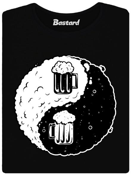 Síla Jin a Jang v pivu - černé dámské tričko