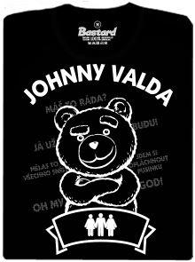 Johnny Valda - méďa - černé pánské tričko s potiskem